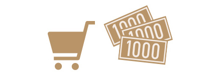 Purchase of 3,000 yen or more and less than 5,000 yen